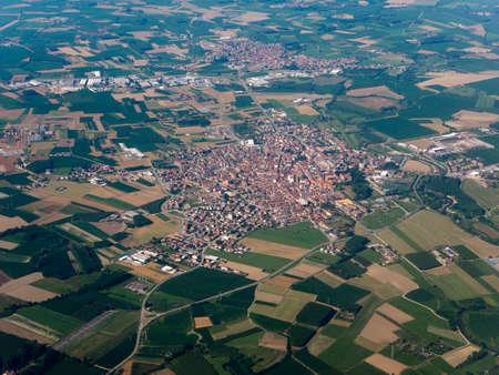 Aerial view of the city of Vinovo, Italy Banco de Imagens - 104959692