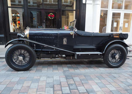 LONDON, UK - CIRCA JUNE 2018: 1929 Bentley 4 12 Litre vintage car in Covent Garden