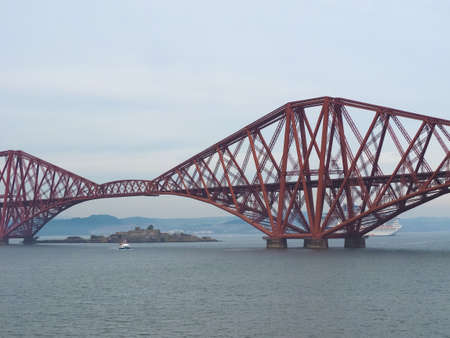 Forth Bridge, cantilever railway bridge across the Firth of Forth built in 1882 in Edinburgh, UK