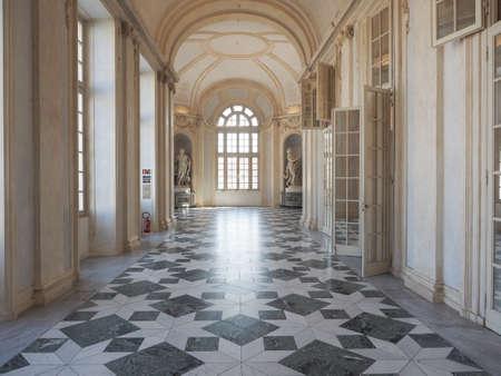 VENARIA, ITALY - CIRCA AUGUST 2018: Reggia di Venaria baroque royal palace inside view