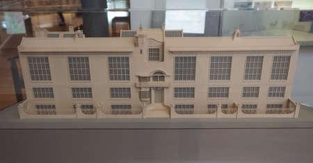 GLASGOW, UK - CIRCA JUNE 2018: Scale model of Glasgow School of Art designed by Scottish architect Charles Rennie Mackintosh