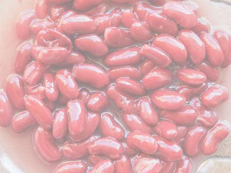 일반적인 콩 (Phaseolus vulgaris) 콩과 식물 야채 채식 음식의 붉은 강낭콩 다양한 배경으로 유용한 섬세하고 부드러운 퇴색 톤 스톡 콘텐츠 - 107781061