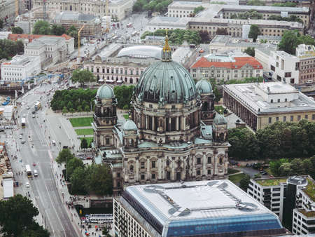 Aerial view of the city of Berlin in Germany Stock Photo