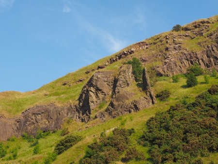 Arthur's Seat in Holyrood park in Edinburgh, UK