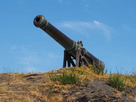 The Portuguese cannon on Calton Hill in Edinburgh, UK