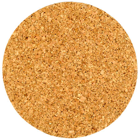 blank cork beermat for a pint of beer isolated over white background