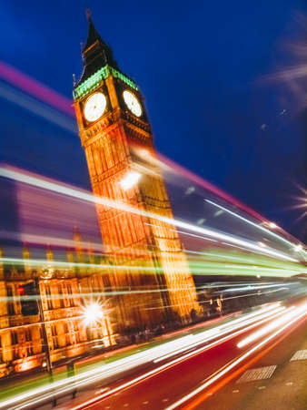 Big Ben Houses of Parliament Westminster Palace London gothic architecture - at night