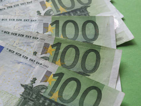 100 Euro banknotes money (EUR), currency of European Union