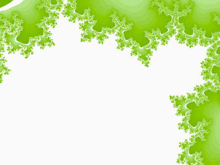 green abstract fractal illustration useful as a background