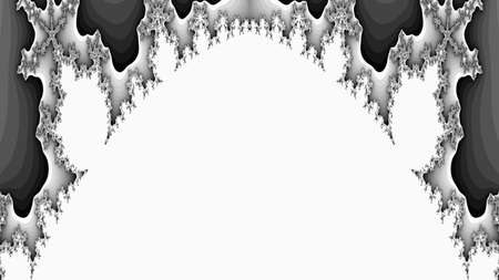 gray abstract fractal illustration useful as a background