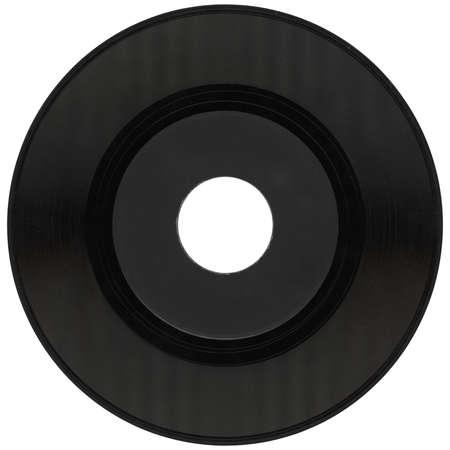 vinyl record vintage analog music recording medium isolated over white background