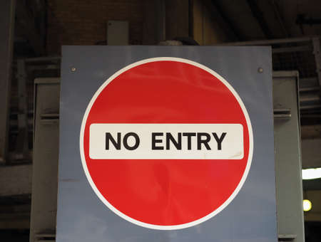 Regulatory signs, no entry for vehicular traffic sign