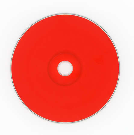 Red CD (compact disc) for music and data recording