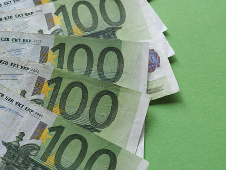 100 Euro banknotes money (EUR), currency of European Union Banque d'images