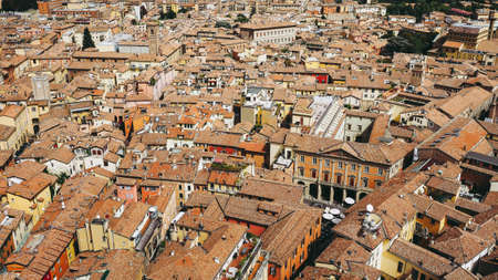 Aerial view of the city of Bologna, Italy 스톡 콘텐츠