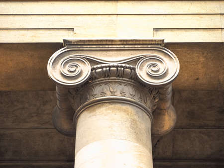 Ionic capital (aka chapiter) of a column