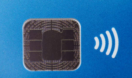 Credit card chip for contactless electronic payment