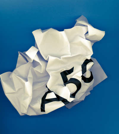 Crumpled paper ball with word A50 representing the growing request to revoke Article 50 to stop Brexit and remain in the EU, after the ECJ decision and May deal failure