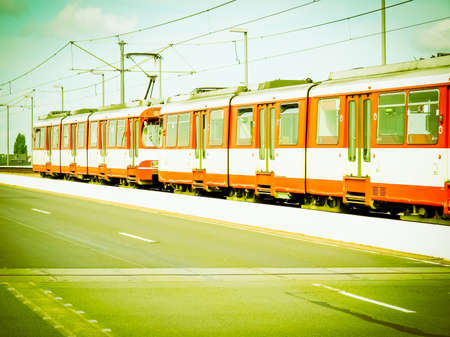 Detail of an urban transport train vintage retro Stock Photo