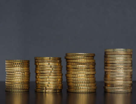 Pile of Euro coins money (EUR), currency of European Union useful as a background