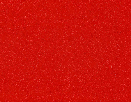 Red paper texture with snow useful as a Christmas background