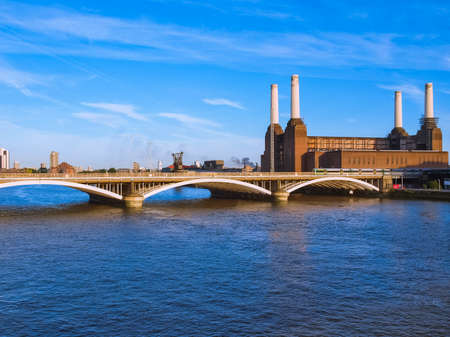 The Battersea Power Station in London, UK 免版税图像
