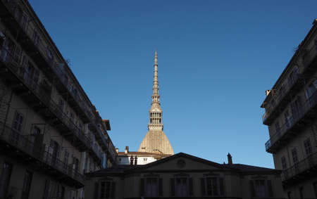 The Mole Antonelliana building in Turin, Italy