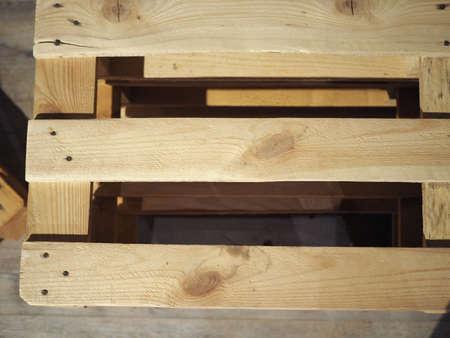 wooden pallet (aka skid) flat transport structure