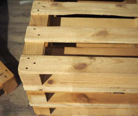 structure de transport plate de palette en bois (aka skid) Banque d'images