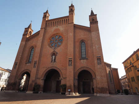 Duomo di San Lorenzo (St Lawrence cathedral) in Alba, Italy