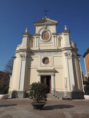 San Giovanni Battista (John the Baptist) church in Alba, Italy. Hic Domus Dei means The House of the Lord