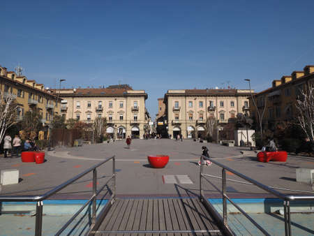 ALBA, ITALY - CIRCA FEBRUARY 2019: Piazza Michele Ferrero (previously known as Piazza Savona) square 報道画像