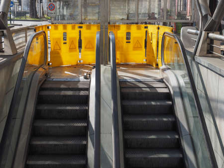 escalators out of service for maintenance works