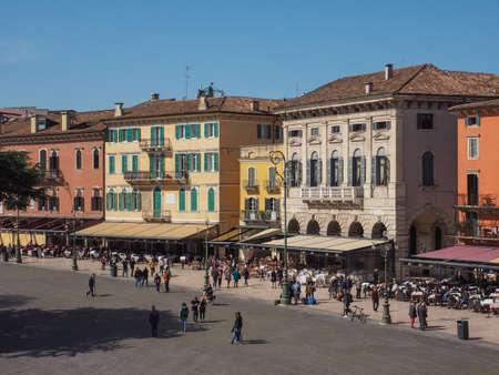 VERONA, ITALY - CIRCA MARCH 2019: Piazza Bra square Editorial
