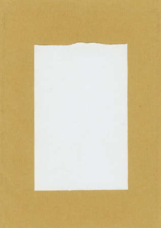 white and brown paper texture useful as a background, with frame and copy space Фото со стока