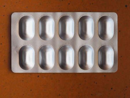 pharmaceutical over the counter or prescription pills tablet Imagens