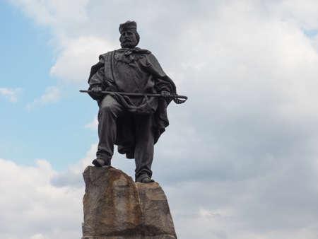 Monument to Giuseppe Garibaldi in Turin, Italy Stock Photo