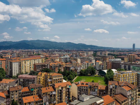 Aerial view of the city of Turin, Italy Stock Photo
