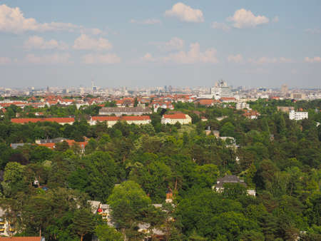 Aerial view of the city of Berlin, Germany