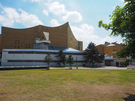 BERLIN, GERMANY - CIRCA JUNE 2019: Berliner Philharmonie concert hall designed by architect Hans Scharoun in 1961