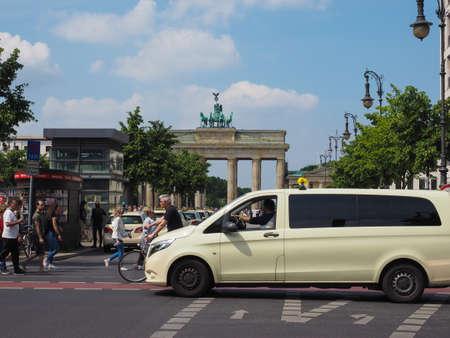 BERLIN, GERMANY - CIRCA JUNE 2019: People at Brandenburger Tor (Brandenburg Gate)