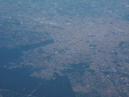 aerial view of Belgium landscape in Europe