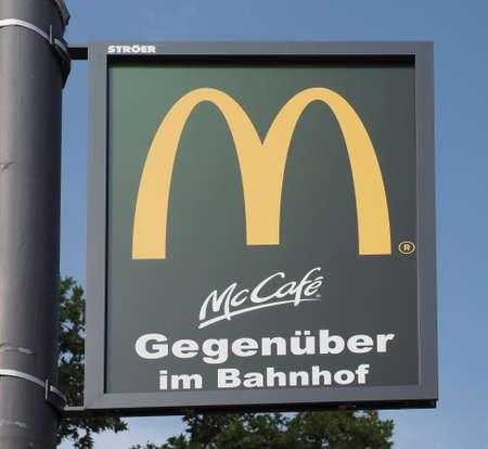 KOELN, GERMANY - CIRCA AUGUST 2019: McDonald's McCafe sign Redakční