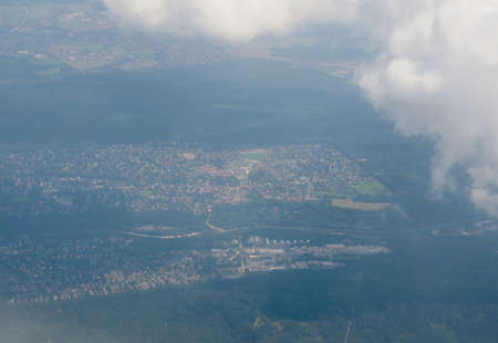 aerial view of Germany seen from plane Imagens