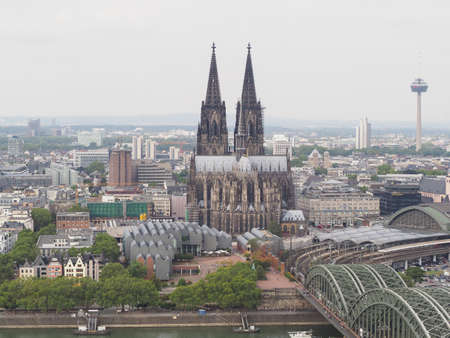 Koelner Dom Hohe Domkirche Sankt Petrus (meaning St Peter Cathedral) gothic church in Koeln, Germany