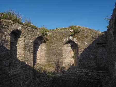 CHEPSTOW, UK - CIRCA SEPTEMBER 2019: Ruins of Chepstow Castle (Castell Cas-gwent in Welsh)