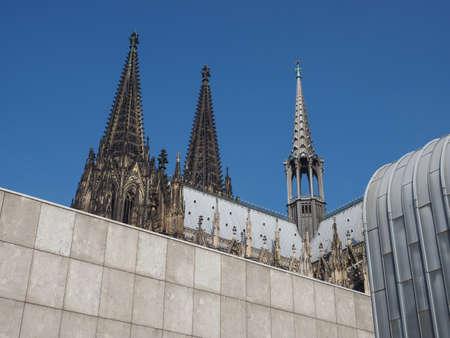 Koelner Dom Hohe Domkirche Sankt Petrus (bedeutet St. Peter Dom) gotische Kirche in Köln, Deutschland