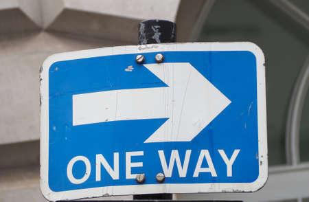 Regulatory signs, one way traffic traffic sign
