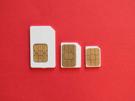 Mini, micro and nano sims for mobile phone Reklamní fotografie