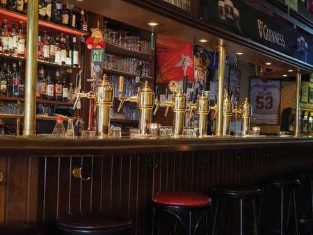 DUESSELDORF, GERMANY - CIRCA AUGUST 2019: Irish pub